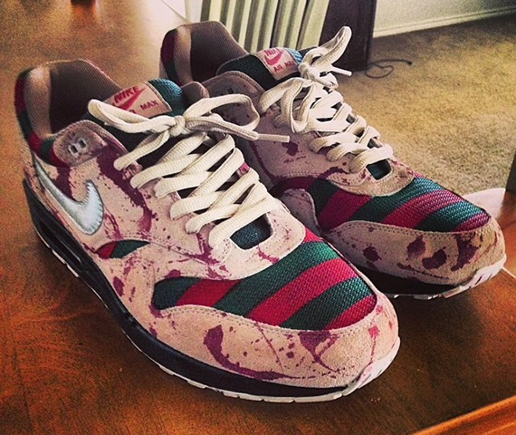"Die besten Horror-Sneaker 2014 – Nike Air Max 1 ""Freddy"" Customs by MajorHeat Productions"