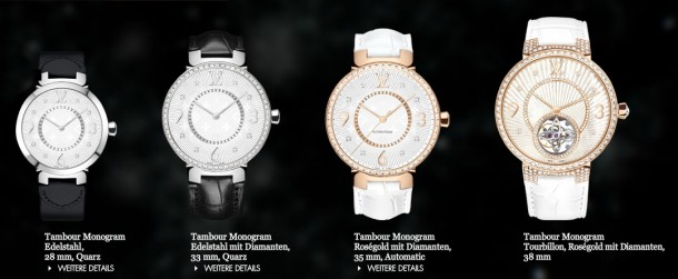 Louis Vuitton, time-piece for women – Bling Bling News Tambour Mongram Collection 2013 (+English version)