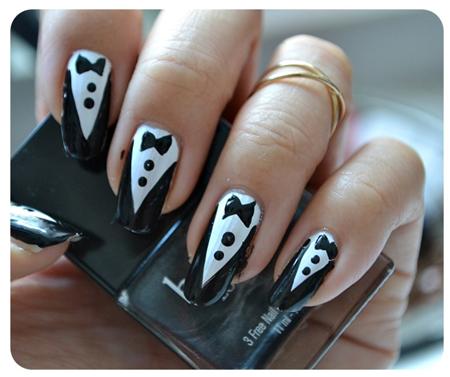 tuxedo nails 3
